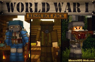 World War I HD PvP Texture Pack For Minecraft PE 1.12.0, 1.11.1