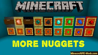 More Nuggets Craft Minecraft PE Mod/Addon 1.12.0
