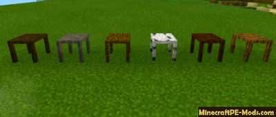 More Decoration Tables Minecraft PE Mod/Addon 1.12.0.3, 1.12.0