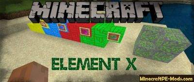 Element X Booster Ore Minecraft PE Mod/Addon 1.12.0.4, 1.12.0