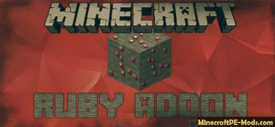 Ruby New Ore Minecraft PE Mod iOS/Android 1.12.0.3, 1.12.0