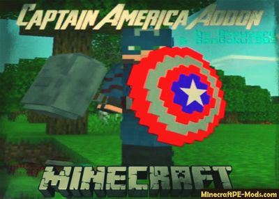 Mjölnir & Captain America Shield Minecraft PE Addon