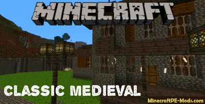 Classic Medieval Minecraft PE Texture Pack iOS/Android 1.12.0, 1.11.1