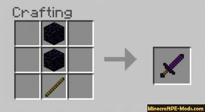 More Crafting Swords Minecraft PE Mod - Addon 1.12.0.13, 1.12.0