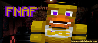 Fnaf 1, 2, 3, 4, 5 Skin Pack For Minecraft PE