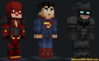 Justice League PE Evolve 1.0.7 Minecraft PE Mod 1.12.0, 1.11.4