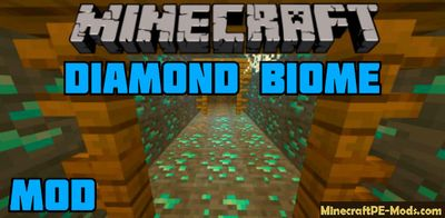 Diamond Biome Minecraft PE Mod/Addon 1.13, 1.12