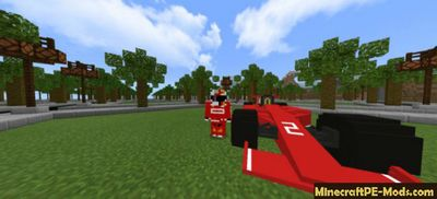 Ferrari F1 Sports car & Suit Minecraft PE Mod 1.13.0, 1.12.0, 1.11