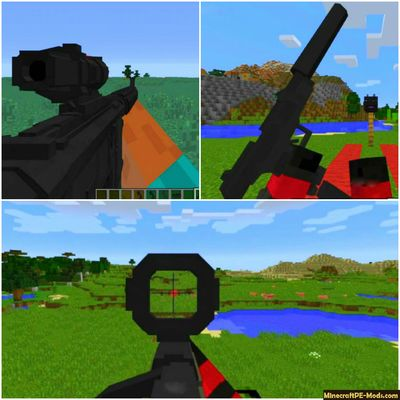 60 Modern Guns Minecraft PE Mod 1.13.0.2, 1.12.0.28 iOS/Android