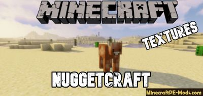 NuggetCraft 16x16 Texture Pack For Minecraft PE 1.13.0, 1.12.1