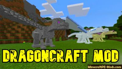 DragonCraft - Rideable Dragons Minecraft PE Mod 1.13, 1.12