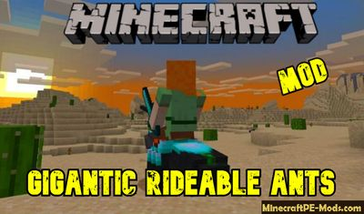 Gigantic Rideable Ants Minecraft PE Mod 1.13.0.17, 1.12.1