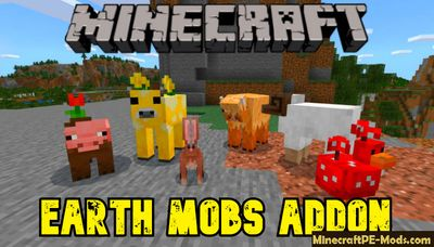 New Earth Mobs Addon For Minecraft PE iOS/Android