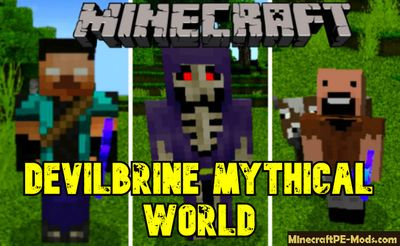 Devilbrine Mythical World V7.2 Hardcore MCPE Addon