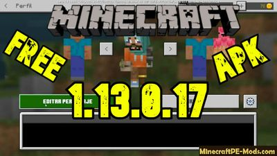 Download Minecraft PE v1.13.0.17 Andoid free Version