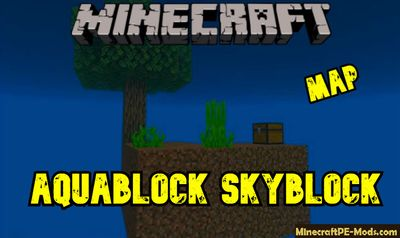 AquaBlock Skyblock Map For Minecraft PE