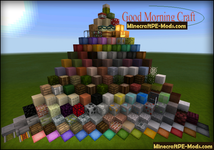 Good Morning Craft Texture Pack For MCPE iOS/Android Download