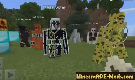 Mod Golem World V For Minecraft PE Download - Skins para minecraft pe golem
