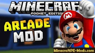 Arcade Games In Minecraft PE Mod, Map & Textures 1.1.0, 1.0.6
