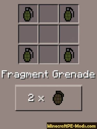 Desno Guns Mod For Minecraft PE 1.1.0, 1.0.8, 1.0.7, 1.0.6, 0.16.0