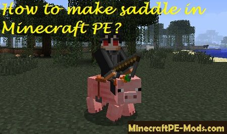 How To Craft A Saddle In Minecraft Pocket Edition