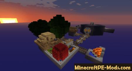 Sky Block V Map For Minecraft PE Android IOS - Maps fur minecraft pe ios