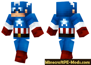 Skin Captain America For Minecraft PE Android - Skins para minecraft pe tablet