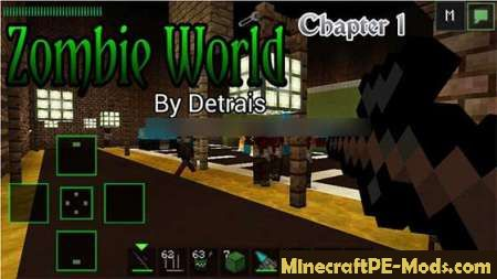 Zombie World Part 1 Survival Modded MCPE Map 1.12.0, 1.11.4 ...