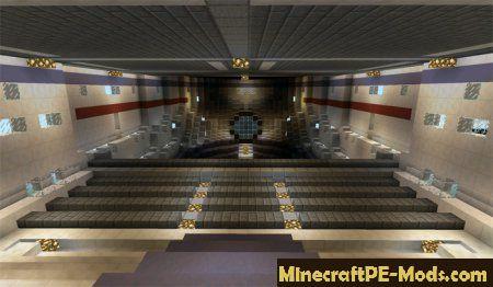 USS Enterprise Custom Creation Minecraft PE Map 1 12 0, 1 11