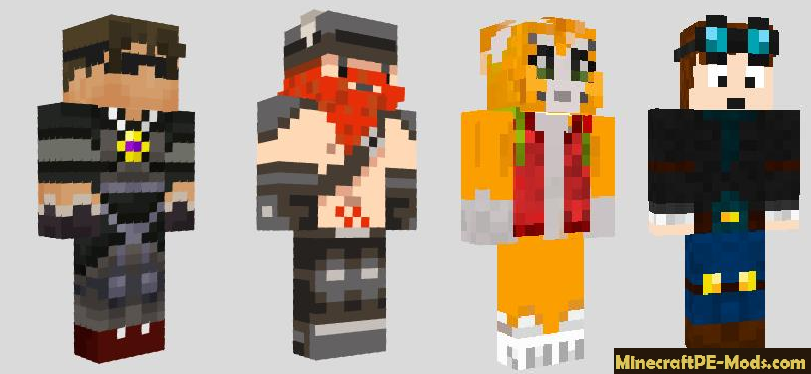 Minecraft YouTube Celebrities Skins Pack - Skins para minecraft youtubers