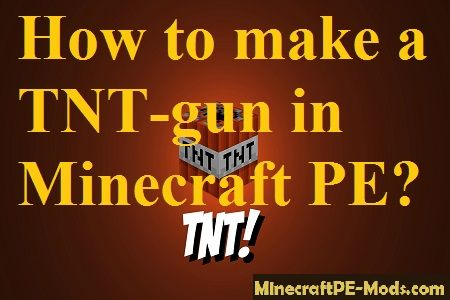 how to make a tnt cannon in minecraft pe