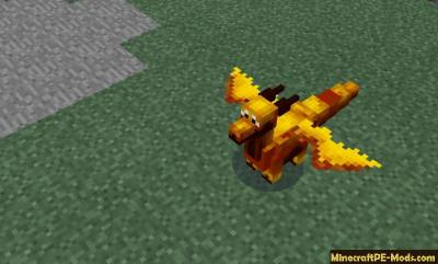 Dragon Mount Minecraft PE Mod 1.1.4, 1.1.3, 1.1.2, 1.0.9, 1.0.0