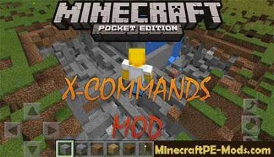 X-Commands Minecraft PE Mod 1.2.0, 1.1.5, 1.1.4, 1.1.3