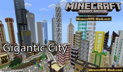 Giant City Map For Minecraft PE iOS and Android 1 12 0, 1 11 4, 1 11 1