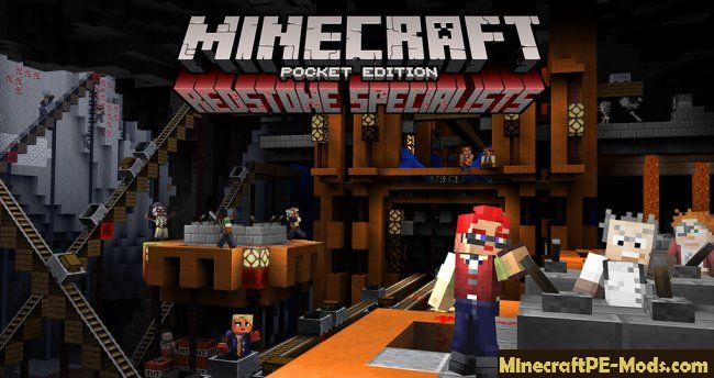 Redstone Puzzle Map as Mojang for Minecraft PE