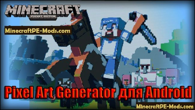 Pixel Art Generator Mod For Minecraft PE iOS, Android Download