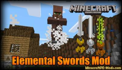 Elemental Swords Mod For Minecraft PE 1.2.9, 1.2.8, 1.2.7, 1.2.6