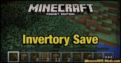 Inventory Save / Keep MCPE Mod 1.1.0.55, 1.1.0, 1.0.9