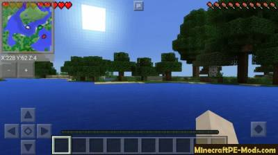 Smooth Minimap mod for Minecraft PE 1.2.0, 1.1.5, 1.1.4, 1.1.0