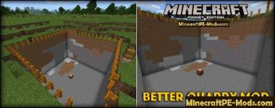 Better Quarry Mod For Minecraft PE Android 1.2.9, 1.2.8, 1.2.7