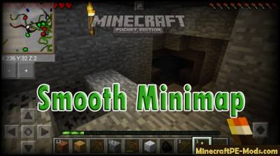 Smooth Minimap mod for Minecraft PE 1.2.9, 1.2.8, 1.2.7, 1.2.6