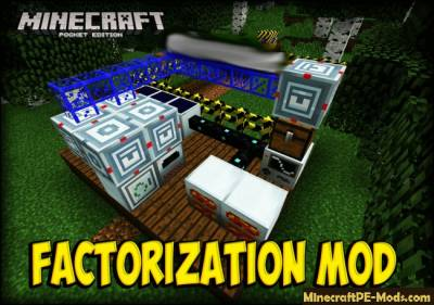 Factorization / IndustrialCraft MCPE Mod 1.4.2, 1.2.16, 1.2.13