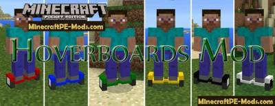 Hoverboards Mod For Minecraft PE 1.2.0, 1.1.5, 1.1.4, 1.0.0