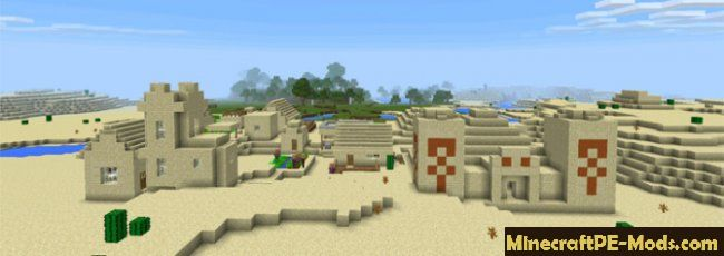 Desert village with Temple Seed For Minecraft PE 1 13 0