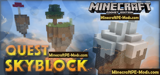 Quest Skyblock ModMap For Minecraft PE Download - Mapas para minecraft pe 0 15 1 en español