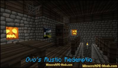 Ovo's Rustic Redemption MCPE Texture Pack 1.2.9, 1.2.8, 1.2.7