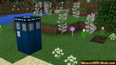 Tardis Mod For Minecraft PE 1.2.0, 1.1.5, 1.1.4, 1.1.3