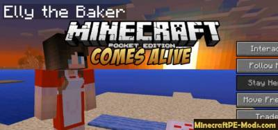 Comes Alive Mod For Minecraft PE 1.2.2, 1.2.1, 1.2.0, 1.1.5