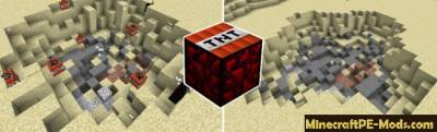 More TNT Mod For Minecraft PE 1.1.0, 1.0.6, 1.0.5, 1.0.0